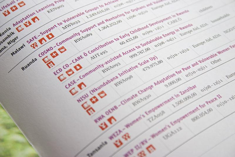 Jahresbericht Detail Tabelle mit Piktogrammen