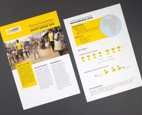 Jahresbericht 2019: Informationen zu einzelnen Projektländern können optional hinzugefügt werden.